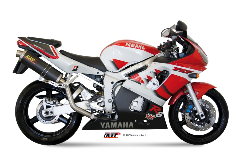 Yamaha yzf 600 r6 exhaust mivv oval carbon mivv for Best exhaust system for yamaha r6
