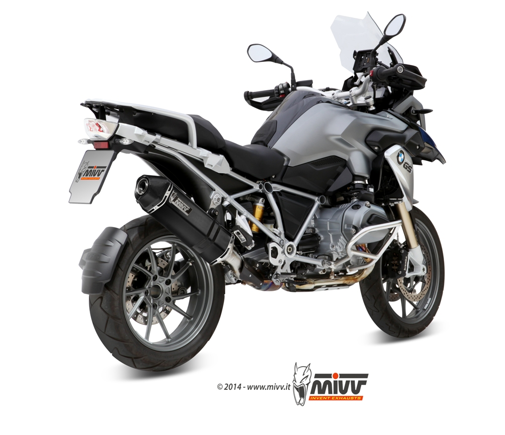 bmw r 1200 gs exhaust mivv speed edge black stainless steel mivv. Black Bedroom Furniture Sets. Home Design Ideas