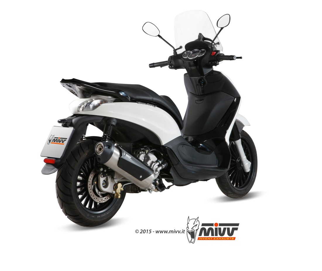 piaggio beverly 125 exhaust mivv urban stainless steel c.pg.0019.k