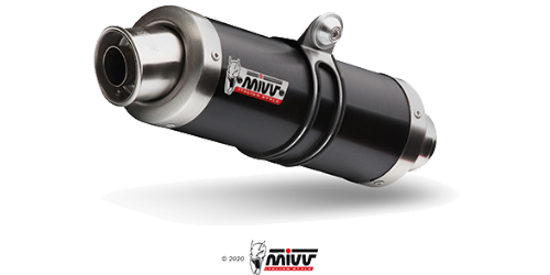 Mivv GP Black INOX NERO per KTM 690 DUKE 2012 >