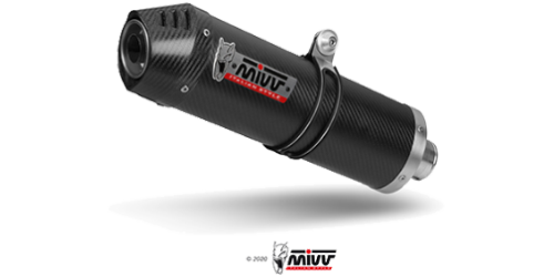 Mivv OVAL CARBON WITH CARBON CAP for YAMAHA MT-09 2013 >