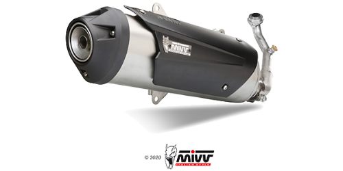 Mivv URBAN STAINLESS STEEL for KYMCO XCITING 500 2005 > 2014
