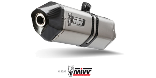 Mivv SPEED EDGE INOX pour BMW F 800 R / GT 2009 >