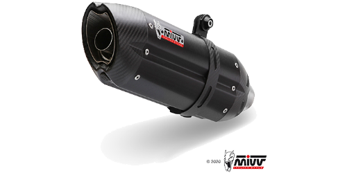 Mivv SUONO Black BLACK STAINLESS STEEL for DUCATI HYPERMOTARD 1100 EVO 2010 > 2012