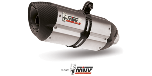 Mivv SUONO STAINLESS STEEL for APRILIA DORSODURO 1200 2012 > 2016