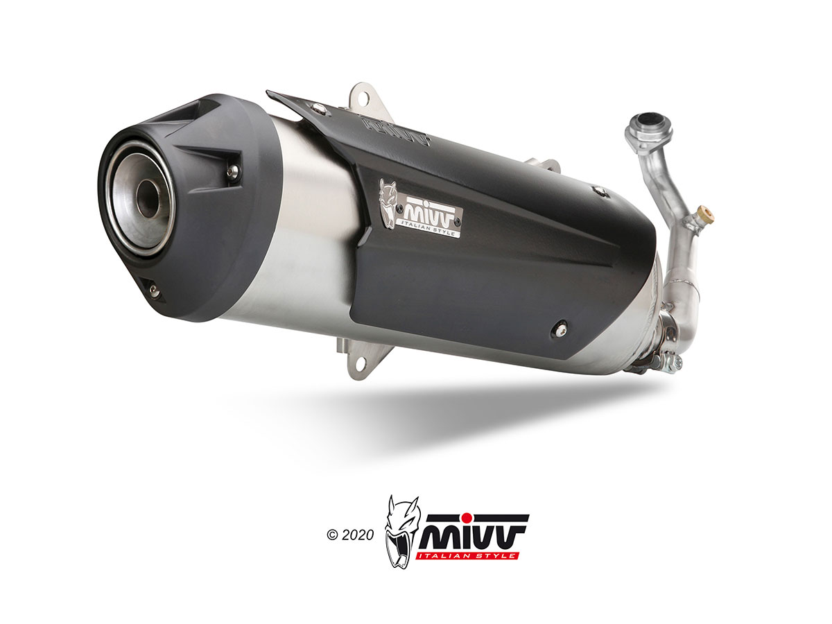 PIAGGIO BEVERLY 500 Exhaust Mivv Urban Stainless steel C.GL.0009.B