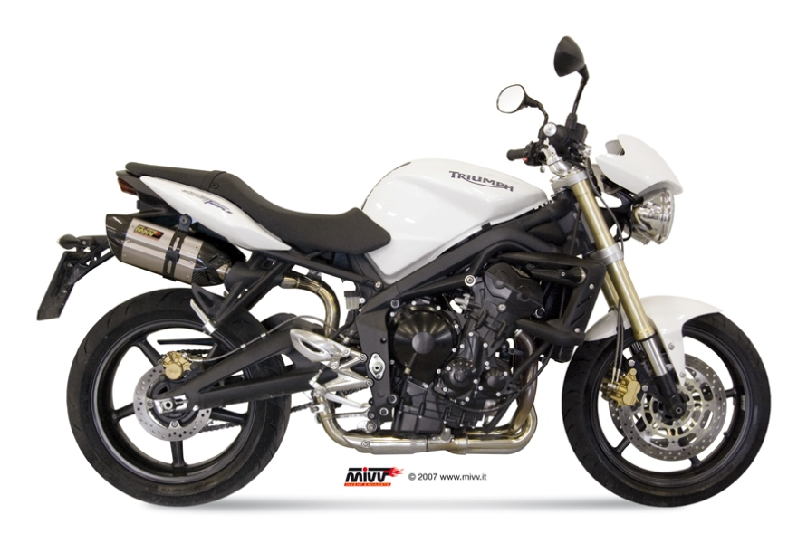 TRIUMPH STREET TRIPLE Exhaust Mivv Suono Stainless steel AT.009.L7