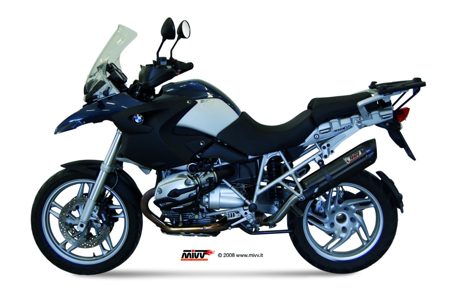 escape bmw r 1200 gs mivv suono inox negro mivv. Black Bedroom Furniture Sets. Home Design Ideas