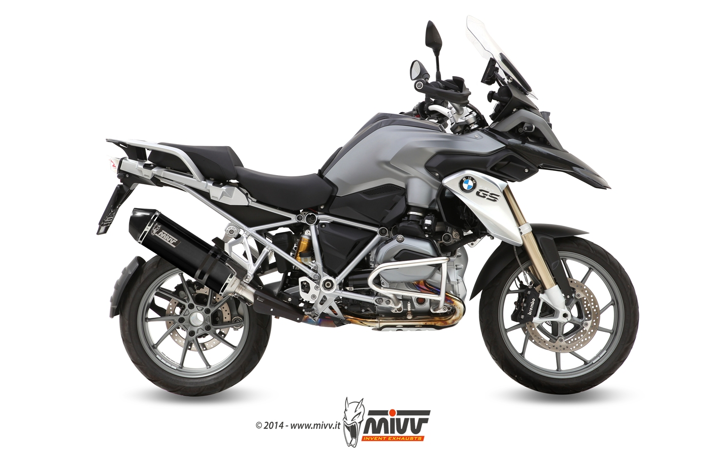 Pot d'échappement BMW R 1200 GS Mivv Speed Edge Inox noir B.016.LRB