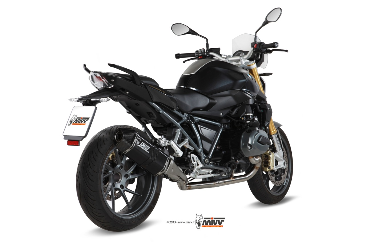 bmw r 1200 r rs exhaust mivv speed edge black stainless. Black Bedroom Furniture Sets. Home Design Ideas