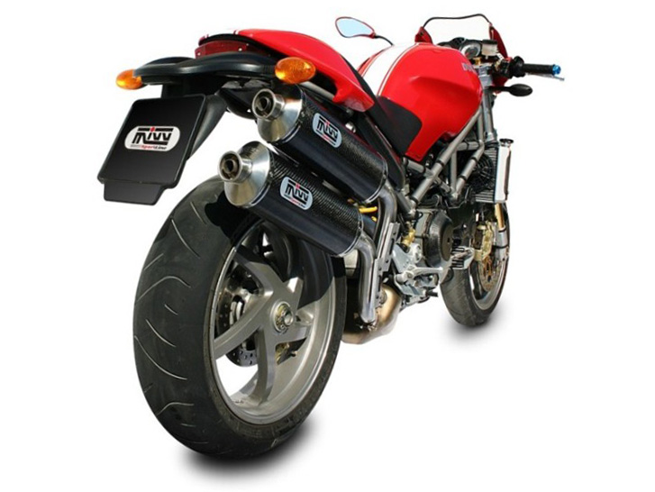 DUCATI MONSTER S2R 1000 Exhaust Mivv Oval Carbon D.011.L3
