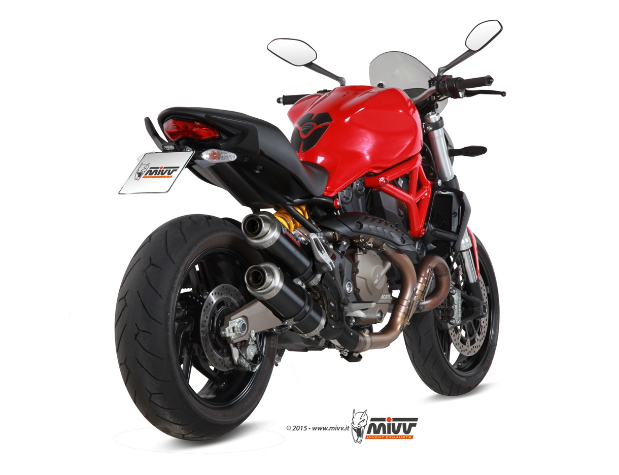 ducati monster 821 exhaust mivv gp black stainless steel mivv. Black Bedroom Furniture Sets. Home Design Ideas