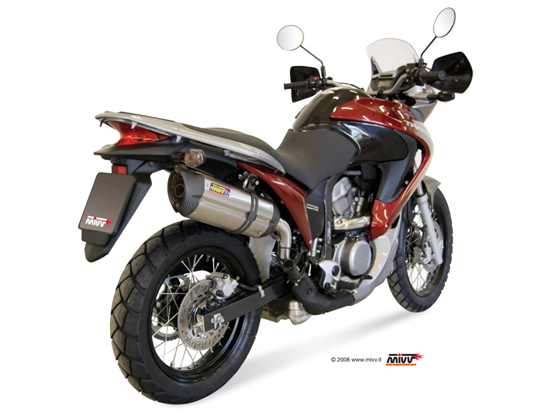 honda xlv transalp 700 exhaust mivv suono stainless steel. Black Bedroom Furniture Sets. Home Design Ideas