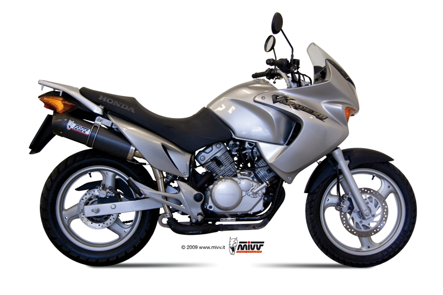 honda xl 125 varadero exhaust mivv oval carbon with carbon. Black Bedroom Furniture Sets. Home Design Ideas