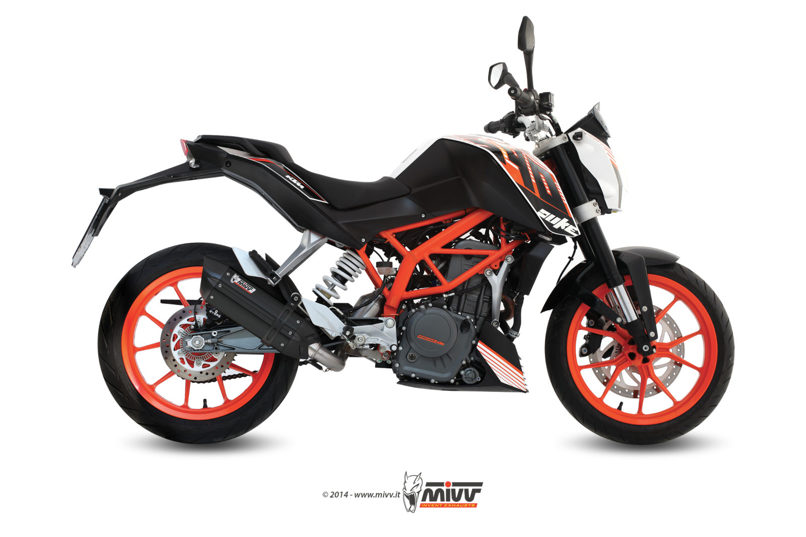 auspuff ktm 390 duke mivv suono schwarzer edelstahl. Black Bedroom Furniture Sets. Home Design Ideas