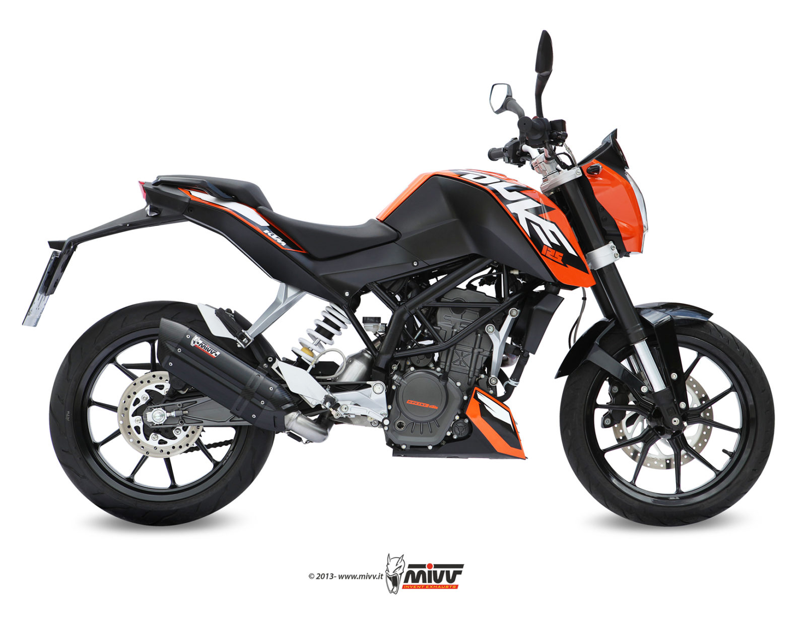 KTM 125 DUKE Exhaust Mivv Suono Black stainless steel KT.009.L9