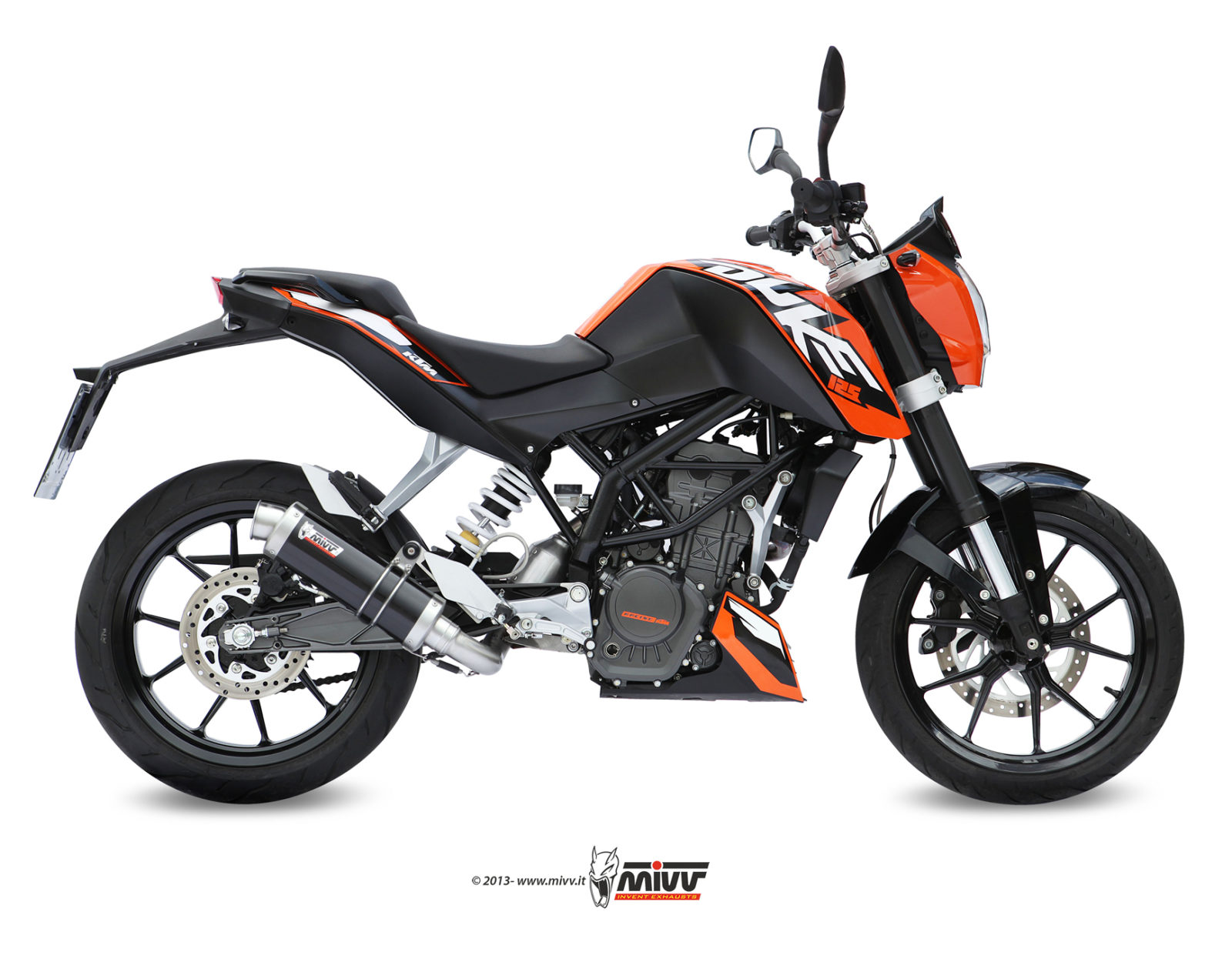 KTM 125 DUKE Exhaust Mivv Gp Black stainless steel KT.009.LXB