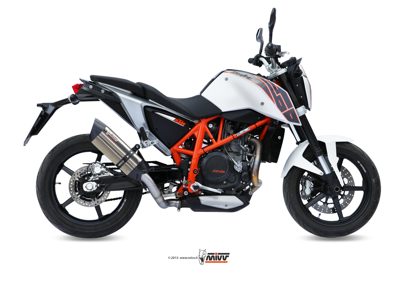 auspuff ktm 690 duke mivv suono edelstahl mivv. Black Bedroom Furniture Sets. Home Design Ideas