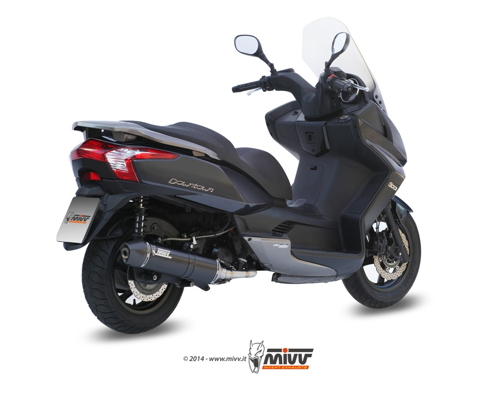 Scarico KYMCO DOWNTOWN 300 Mivv Stronger Inox Nero O.005.LBSC