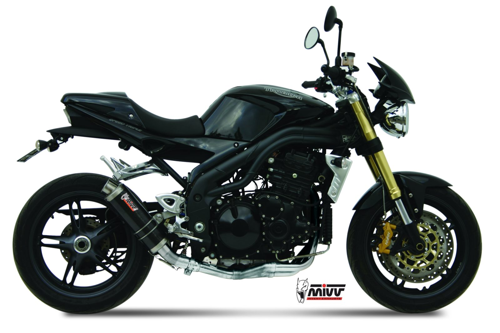 triumph speed triple exhaust mivv gp carbon mivv. Black Bedroom Furniture Sets. Home Design Ideas