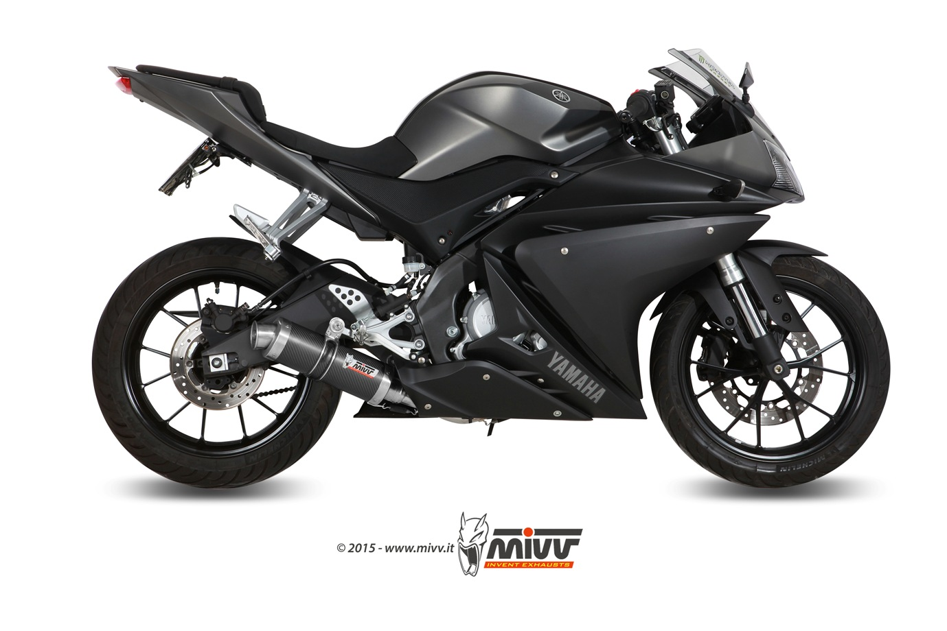 scarico yamaha yzf r125 mivv gp carbonio mivv. Black Bedroom Furniture Sets. Home Design Ideas