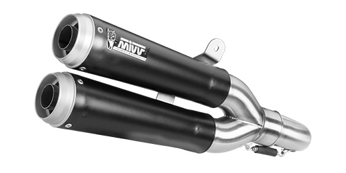 Mivv X-CONE BLACK BLACK PAINTED STAINLESS STEEL for DUCATI SCRAMBLER 800 2015 > 2016