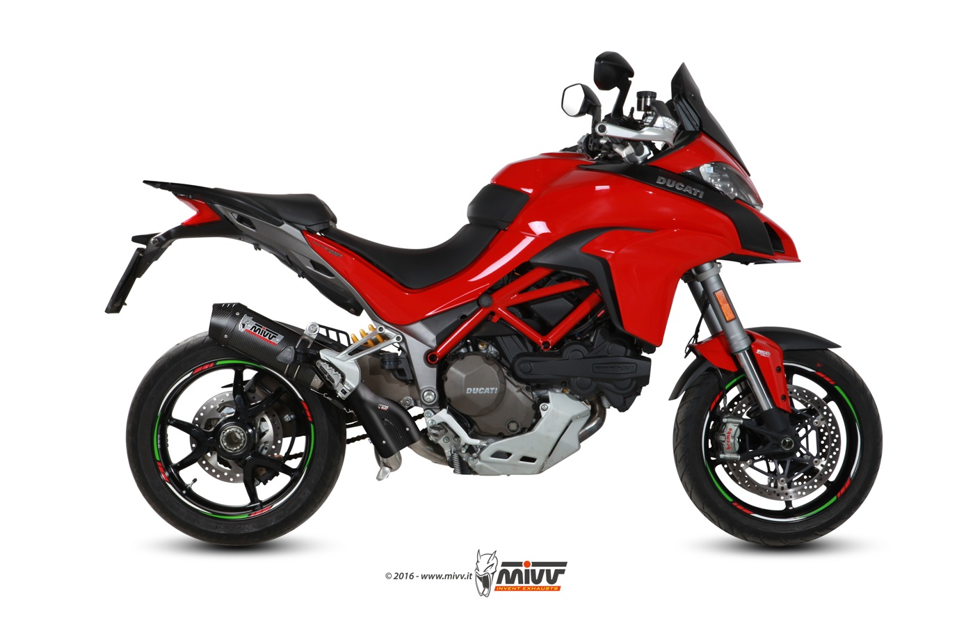 DUCATI MULTISTRADA 1200 Exhaust Mivv Oval Carbon with Carbon cap D.033.S3C