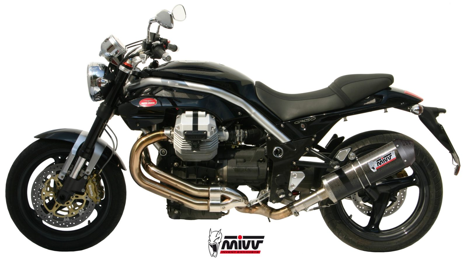 moto guzzi griso 1200 exhaust mivv oval carbon with carbon cap mivv. Black Bedroom Furniture Sets. Home Design Ideas