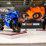 The Mivv booth at the opening of Eicma 2017
