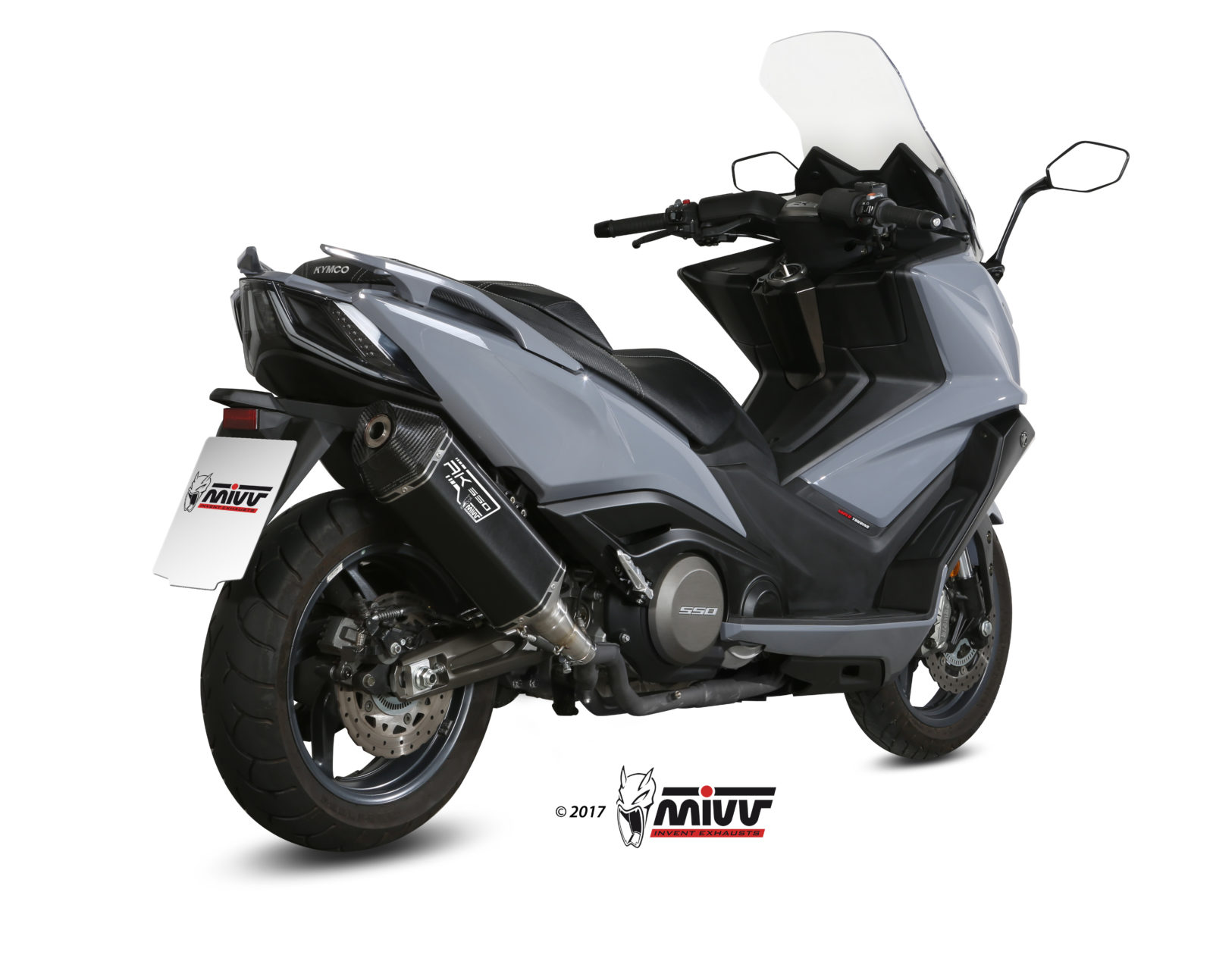 KYMCO AK 550 Exhaust Mivv Speed Edge Black stainless steel O.008.LRB