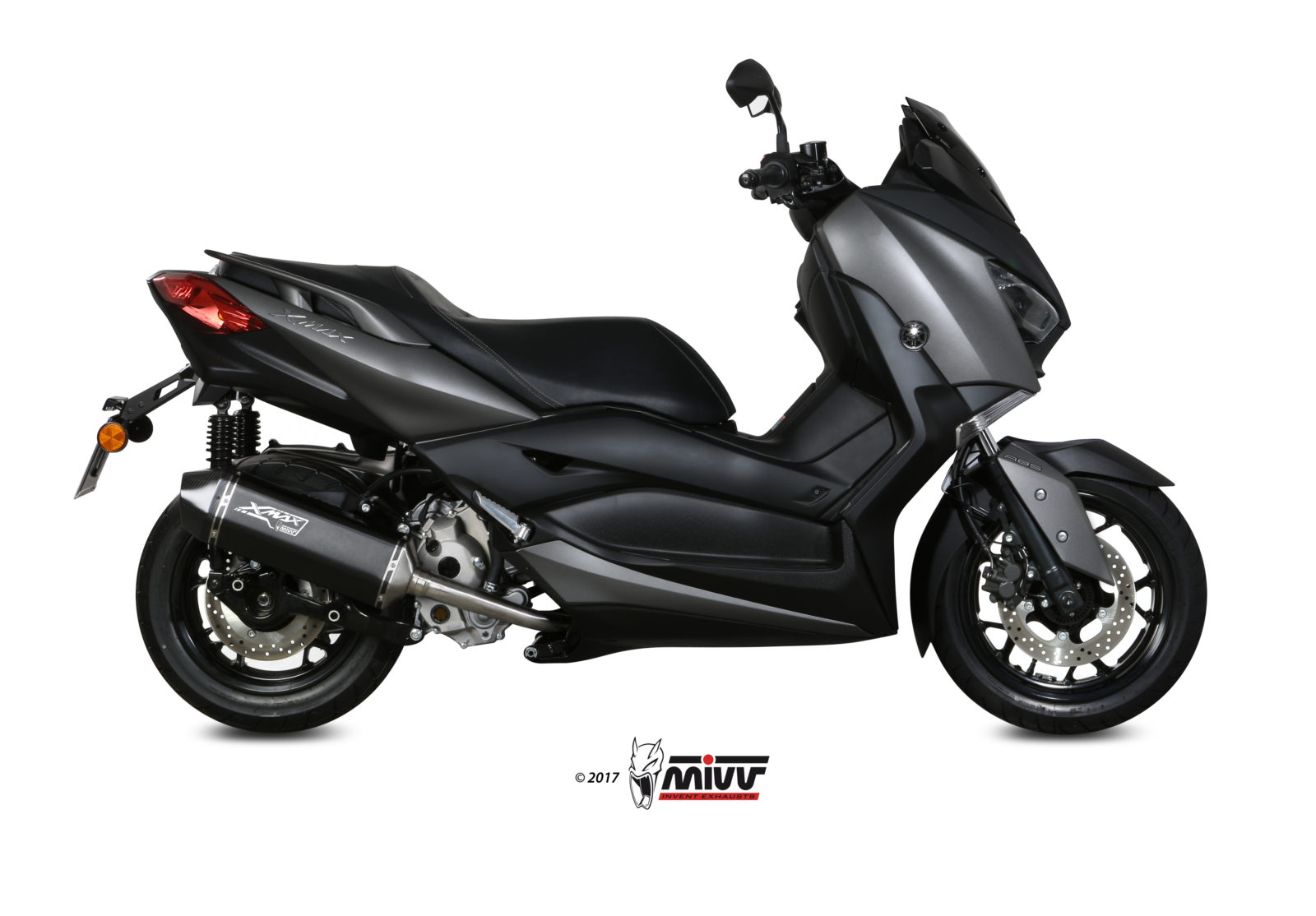 yamaha x max 300 exhaust mivv speed edge black stainless. Black Bedroom Furniture Sets. Home Design Ideas