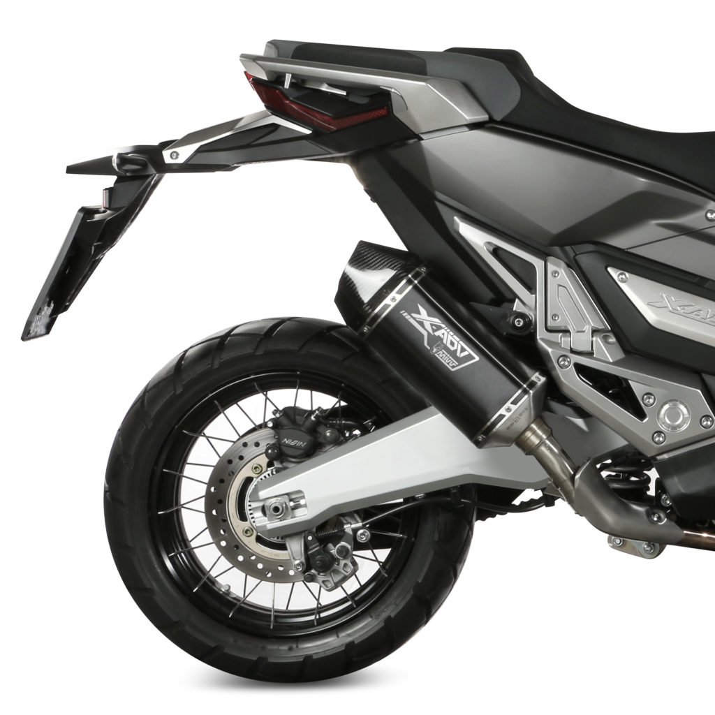 Escape Mivv Speed Edge inox negro para Honda X-ADV