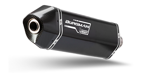 Mivv SPEED EDGE Black INOX NERO per SUZUKI BURGMAN 400 2017 >