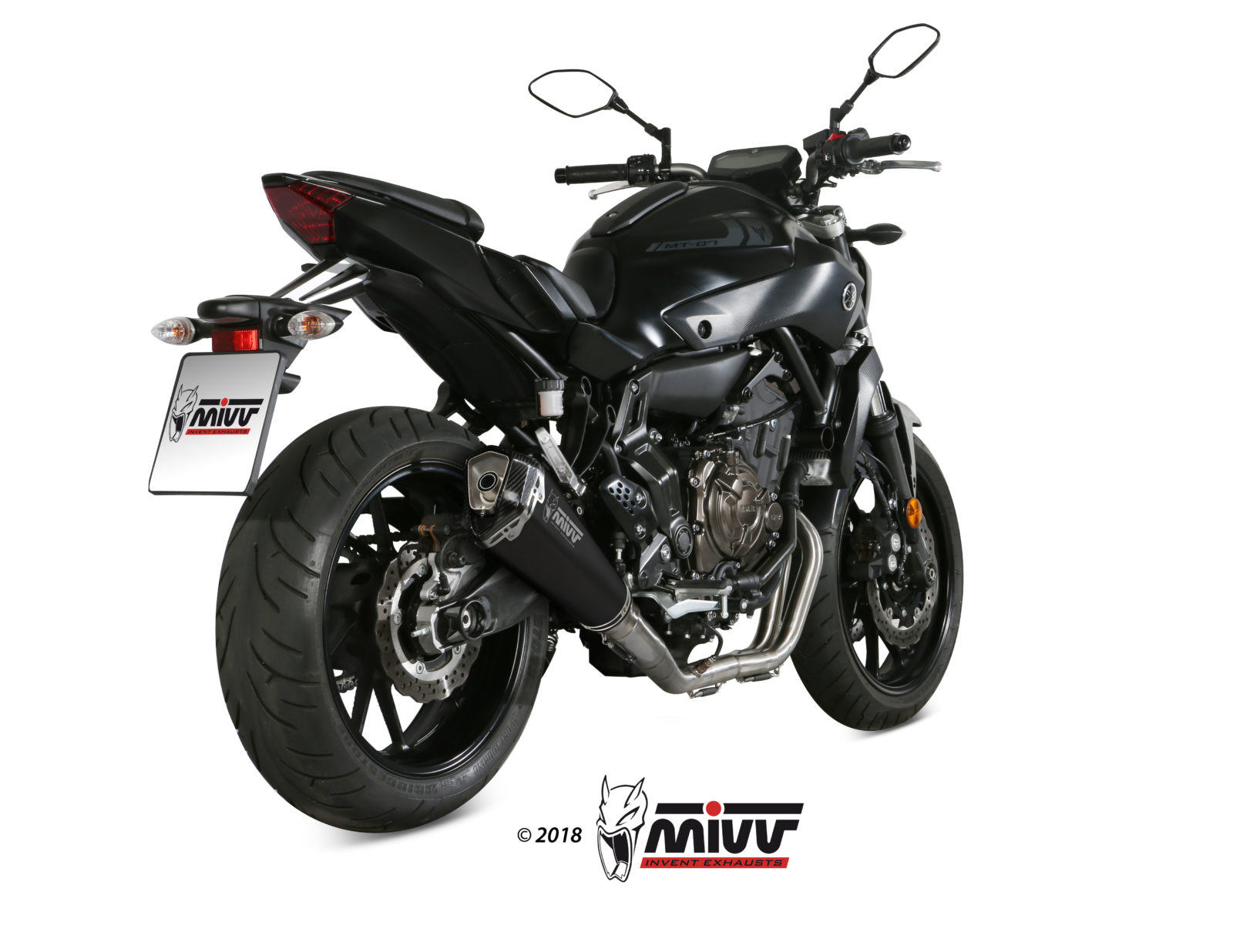 YAMAHA MT-07 Exhaust Mivv Delta Race Black stainless steel Y.045.LDRB