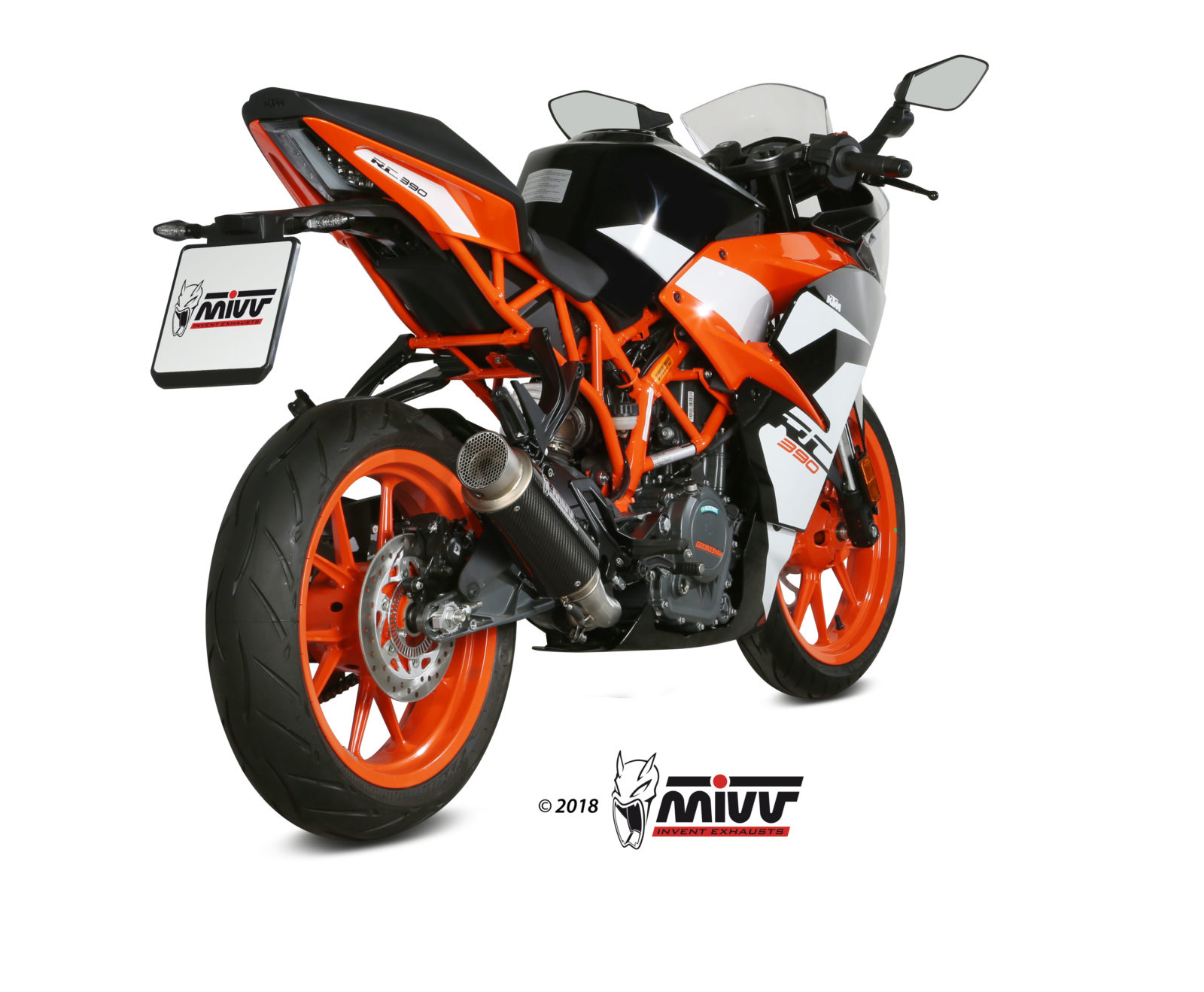 Pot d'échappement KTM RC 390 Mivv GP PRO Carbone KT.019.L2P
