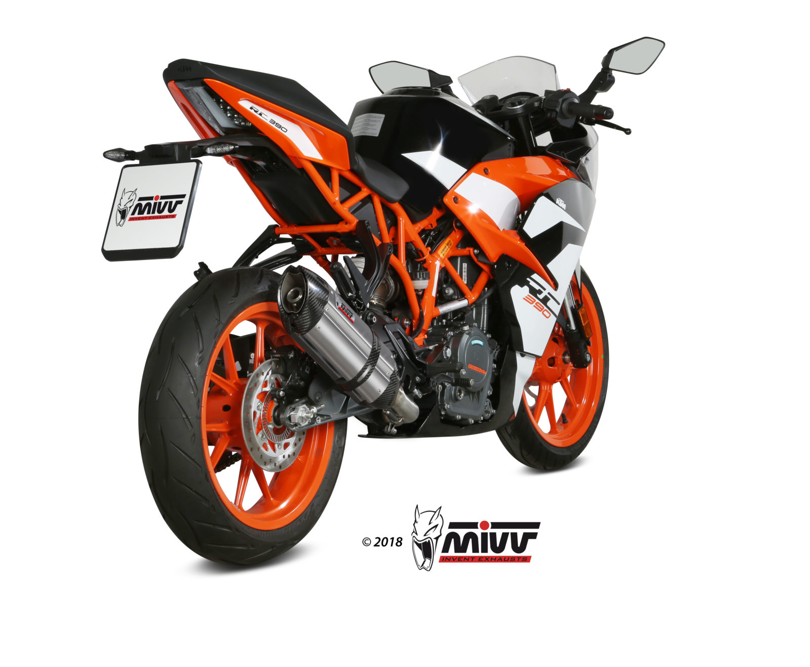 KTM RC 390 Exhaust Mivv Suono Stainless steel KT.019.L7