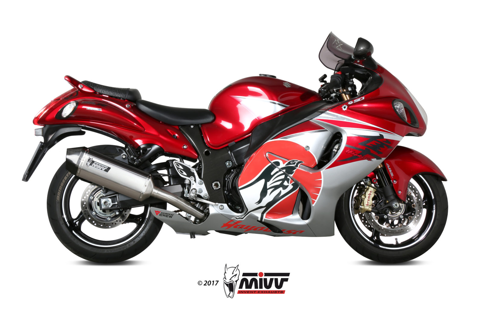 SUZUKI GSX-R 1300 HAYABUSA Exhaust Mivv Speed Edge Stainless steel S.052.LRX