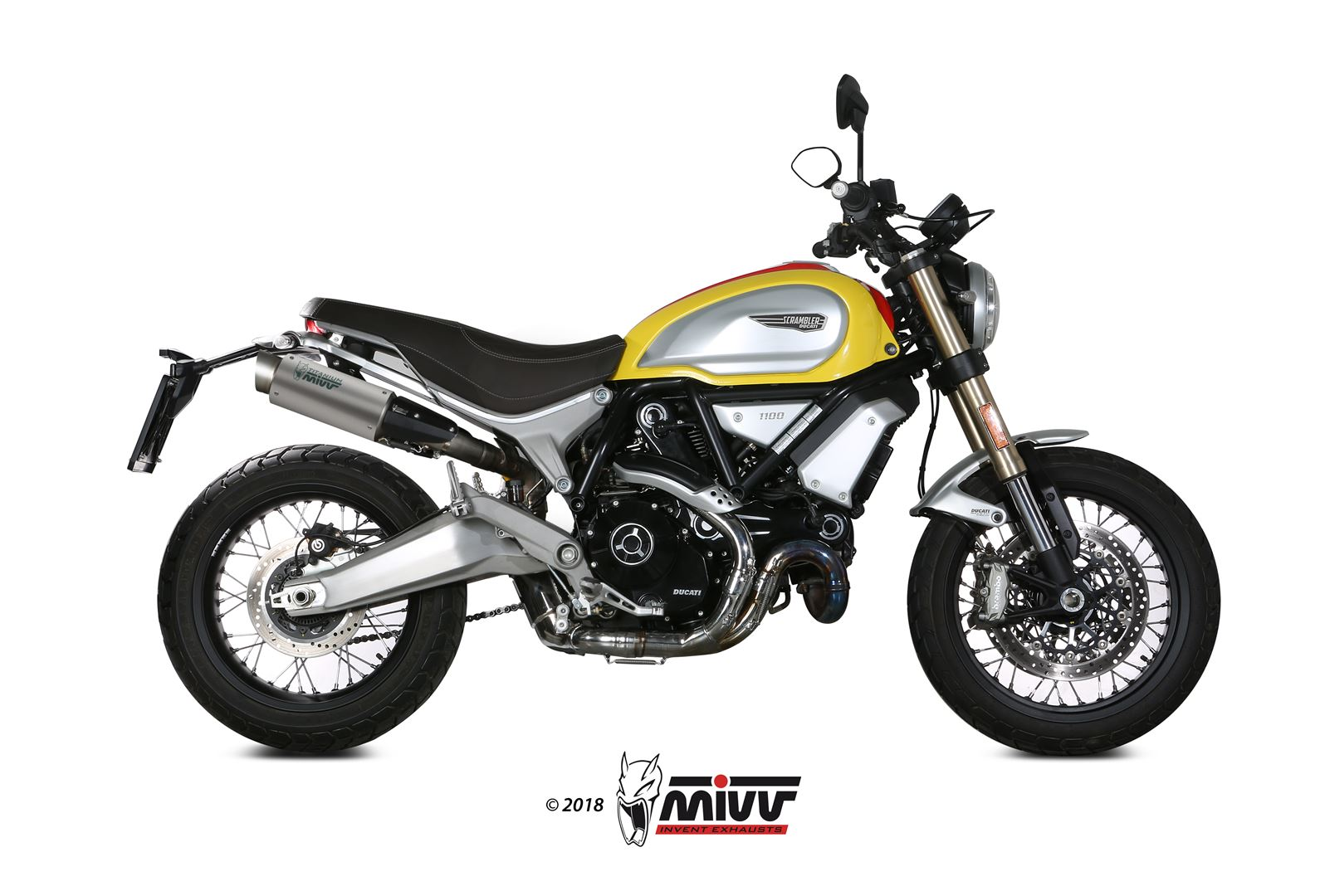 auspuff ducati scrambler 1100 mivv gp pro titan. Black Bedroom Furniture Sets. Home Design Ideas