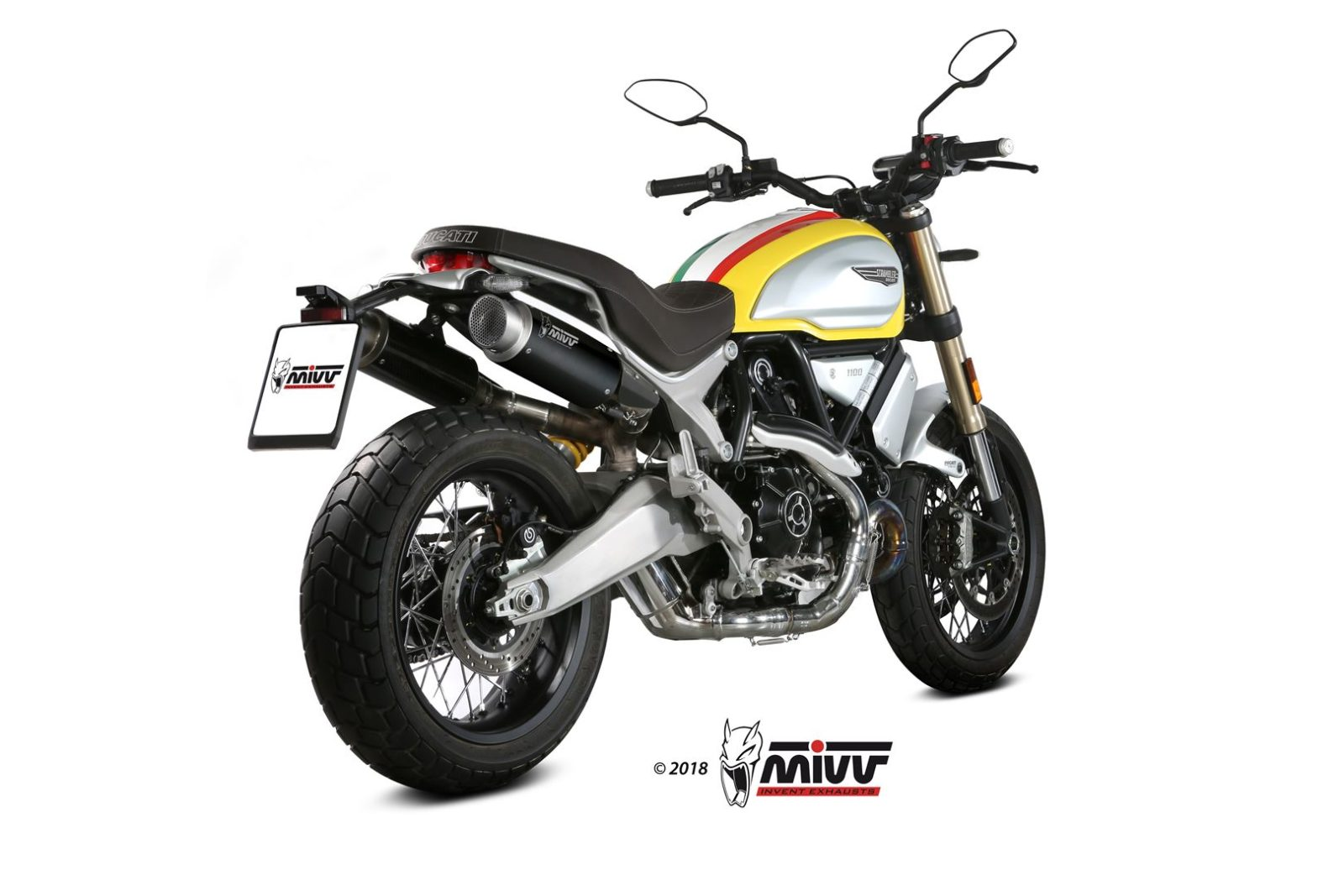 Ducati Scrambler 1100 Exhaust Mivv Gp Pro Black Stainless Steel D