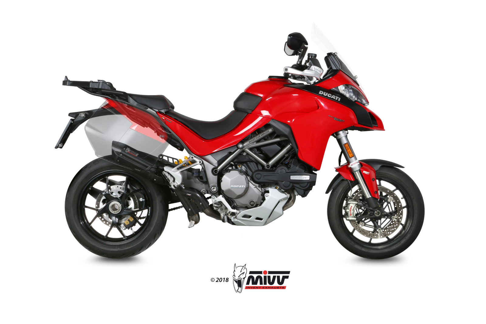 DUCATI MULTISTRADA 1200 Exhaust Mivv Suono Black stainless steel D.033.S9