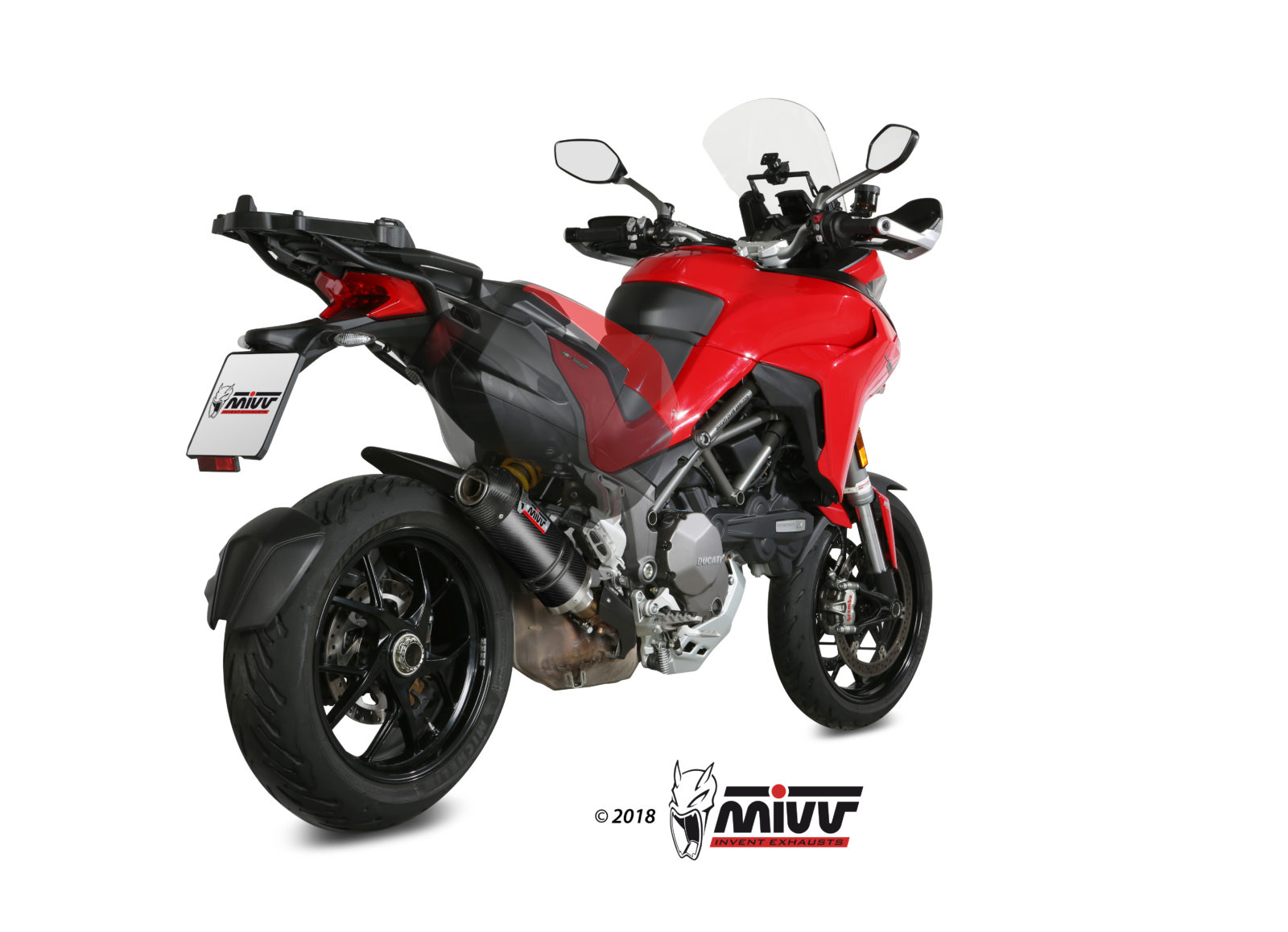 DUCATI MULTISTRADA 1260 Exhaust Mivv Oval Carbon with Carbon cap D.034.L3C