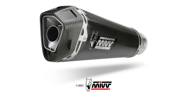 Mivv Delta Race Carbon exhaust